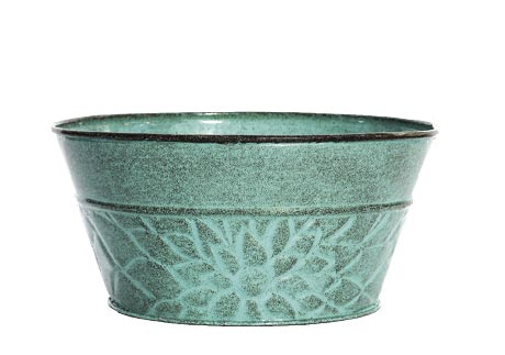 8.0 Metal Succulent Bowl Colors Vary Sold Individual