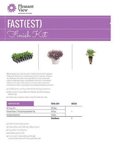 Fast(est) Finish Kit Sales Sheet
