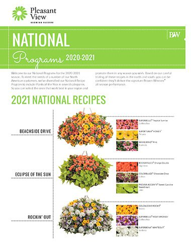 National Programs 2020-2021 Sales Sheet