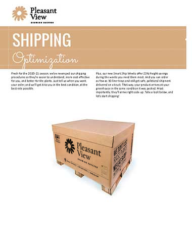 Shipping Optimization Sales Sheet