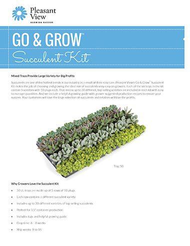 Go & Grow™ Succulent Kit Sales Sheet