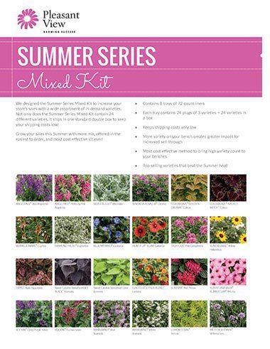 Summer Series Mixed Kit Sales Sheet